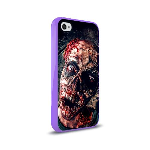 Чехол для Apple iPhone 4/4S силиконовый глянцевый  Фото 02, Зомби