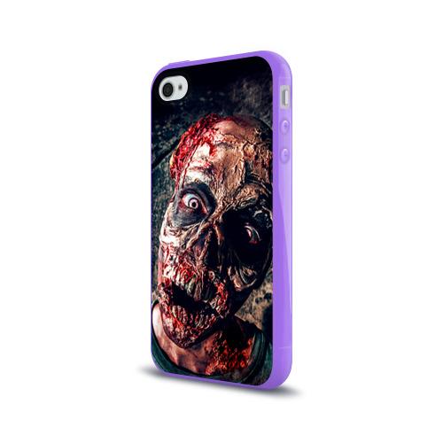 Чехол для Apple iPhone 4/4S силиконовый глянцевый  Фото 03, Зомби