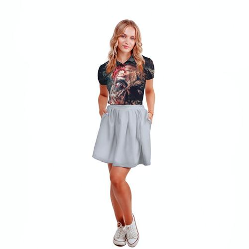 Женская рубашка поло 3D  Фото 04, Зомби