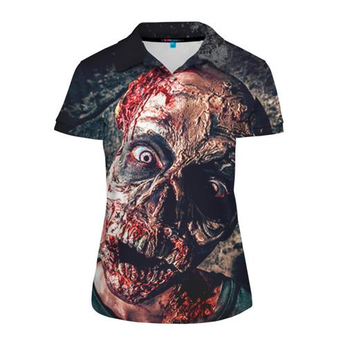 Женская рубашка поло 3D  Фото 01, Зомби