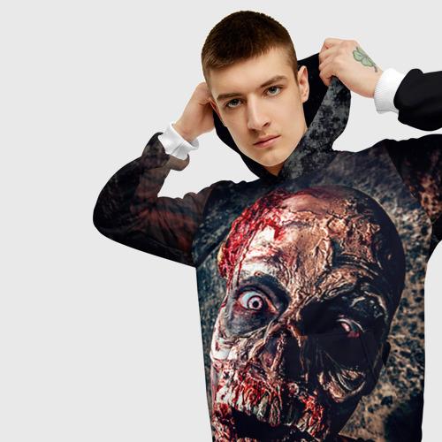 Мужская толстовка 3D Зомби