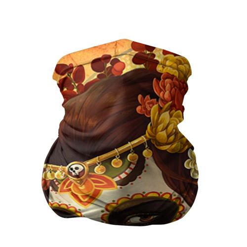 Бандана-труба 3D Девушка. Сахарный череп