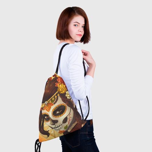 Рюкзак-мешок 3D  Фото 02, Девушка. Сахарный череп