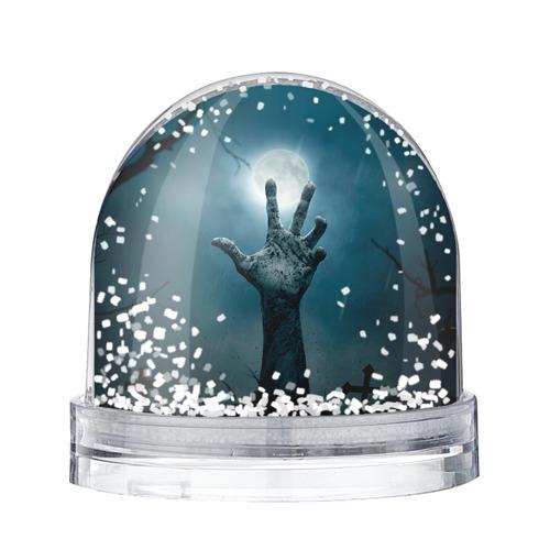 Водяной шар со снегом Рука