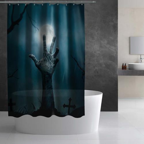 Штора 3D для ванной  Фото 03, Рука
