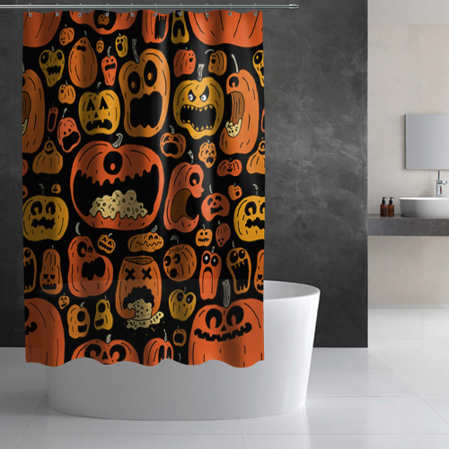 Штора 3D для ванной  Фото 02, Тыковки