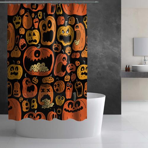 Штора 3D для ванной  Фото 03, Тыковки