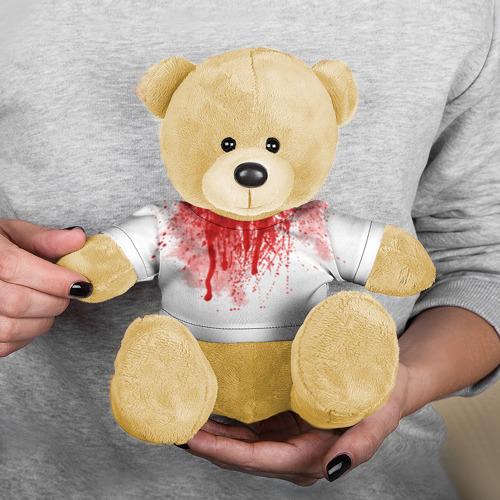 Игрушка Мишка в футболке 3D Кровь Фото 01