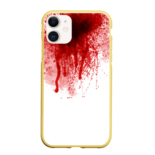 Чехол для iPhone 11 матовый Кровь Фото 01