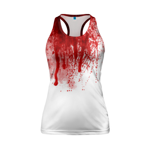 Женская майка 3D спортивная Кровь