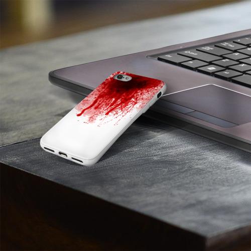 Чехол для Apple iPhone 8 силиконовый глянцевый  Фото 03, Кровь