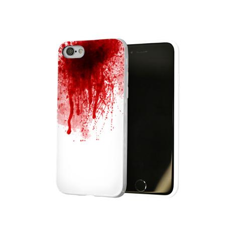 Чехол для Apple iPhone 8 силиконовый глянцевый  Фото 02, Кровь