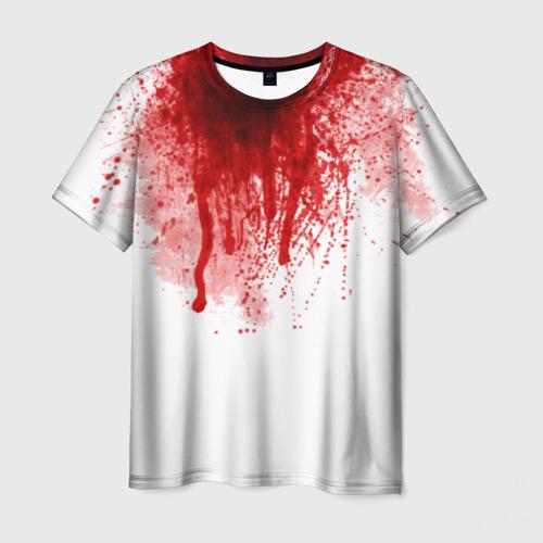 Мужская футболка 3D Кровь