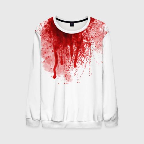 Мужской свитшот 3D Кровь Фото 01