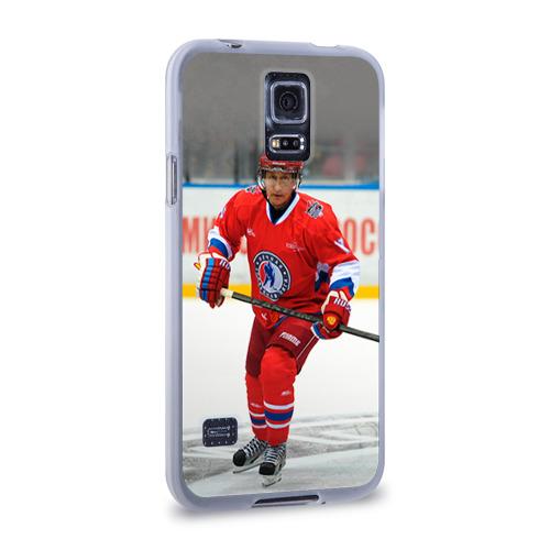 Чехол для Samsung Galaxy S5 силиконовый  Фото 02, Путин хоккеист