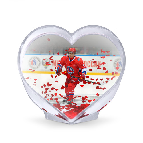 Сувенир Сердце  Фото 02, Путин хоккеист