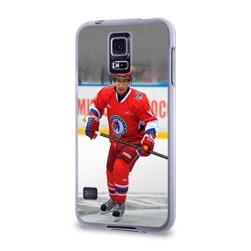Чехол для Samsung Galaxy S5 силиконовый  Фото 03, Путин хоккеист