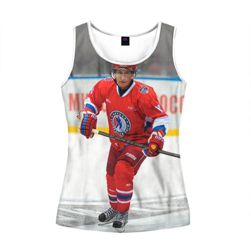 Женская майка 3D  Фото 01, Путин хоккеист