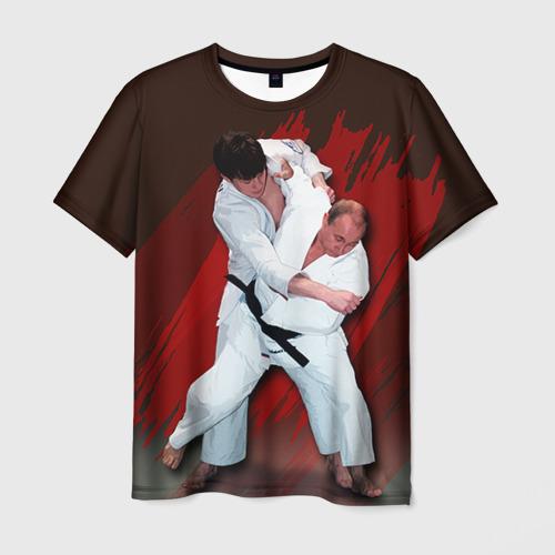 Мужская футболка 3D Дзюдо