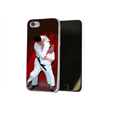 Чехол для Apple iPhone 8 силиконовый глянцевый Дзюдо
