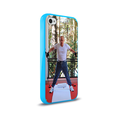 Чехол для Apple iPhone 4/4S силиконовый глянцевый  Фото 02, Спортивный Путин