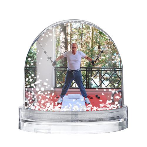 Водяной шар со снегом Спортивный Путин
