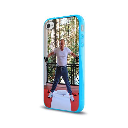 Чехол для Apple iPhone 4/4S силиконовый глянцевый  Фото 03, Спортивный Путин