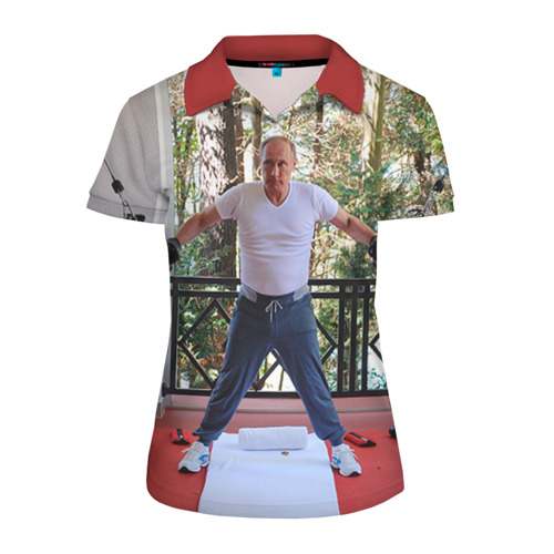 Женская рубашка поло 3D Спортивный Путин
