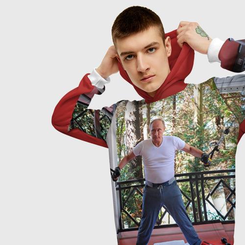 Мужская толстовка 3D  Фото 01, Спортивный Путин