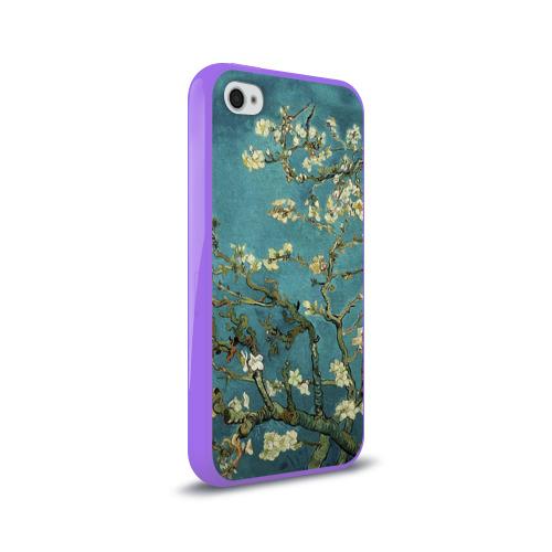 Чехол для Apple iPhone 4/4S силиконовый глянцевый  Фото 02, Миндаль