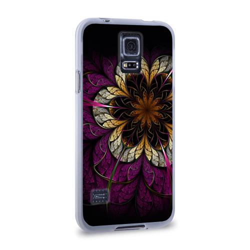 Чехол для Samsung Galaxy S5 силиконовый  Фото 02, Цветочная абстракция