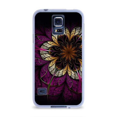 Чехол для Samsung Galaxy S5 силиконовый  Фото 01, Цветочная абстракция