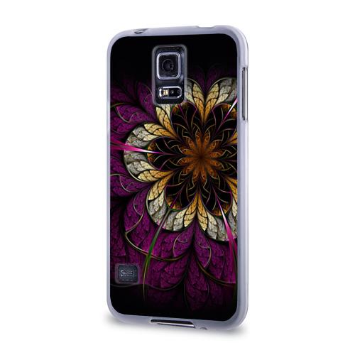 Чехол для Samsung Galaxy S5 силиконовый  Фото 03, Цветочная абстракция