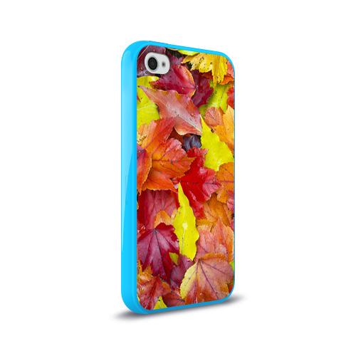 Чехол для Apple iPhone 4/4S силиконовый глянцевый  Фото 02, Осень