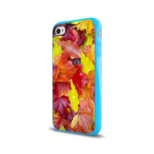 Чехол для Apple iPhone 4/4S силиконовый глянцевый  Фото 03, Осень