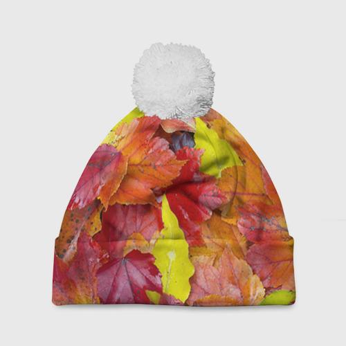 Шапка 3D c помпоном Осень