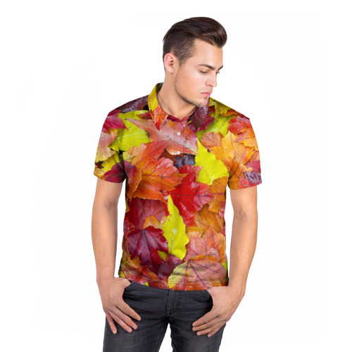 Мужская рубашка поло 3D Осень