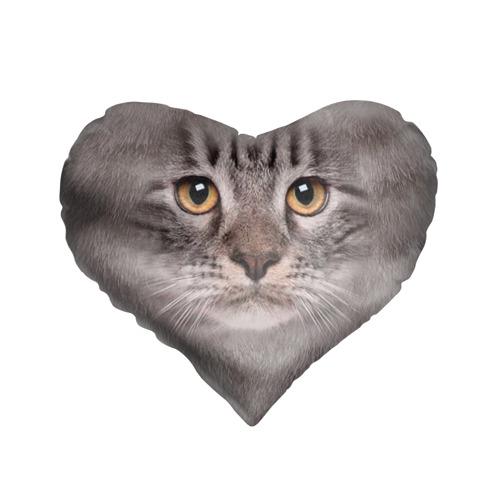 Подушка 3D сердце  Фото 01, Котик