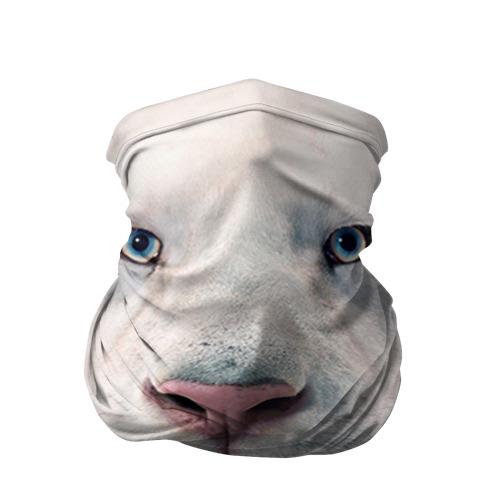 Бандана-труба 3D Белый лев
