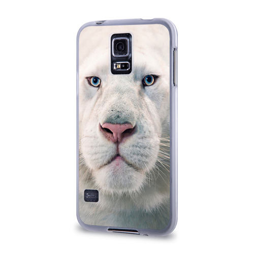 Чехол для Samsung Galaxy S5 силиконовый  Фото 03, Белый лев