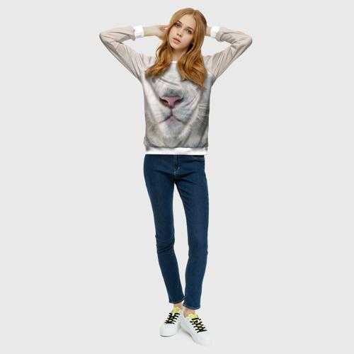 Женский свитшот 3D Белый лев
