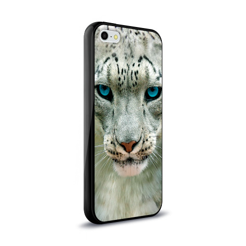 Чехол для iPhone 5/5S глянцевый Снежный барс Фото 01
