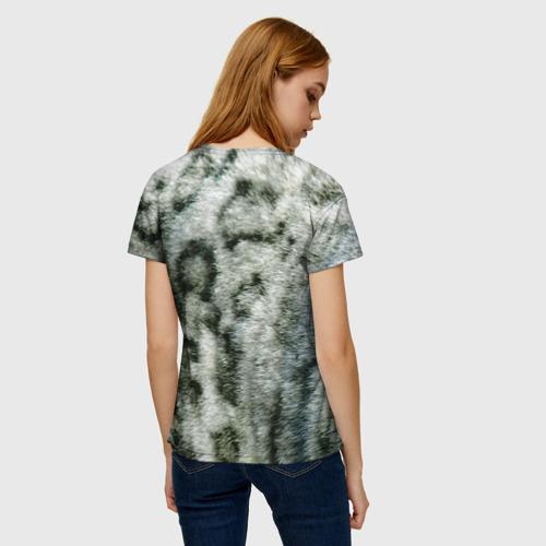 Женская футболка 3D Снежный барс Фото 01
