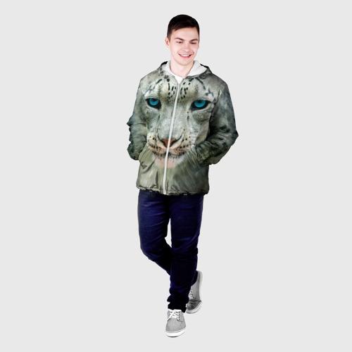 Мужская куртка 3D  Фото 03, Снежный барс