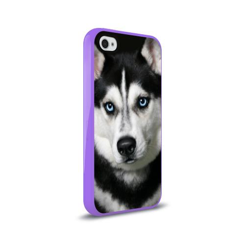 Чехол для Apple iPhone 4/4S силиконовый глянцевый  Фото 02, Хаски