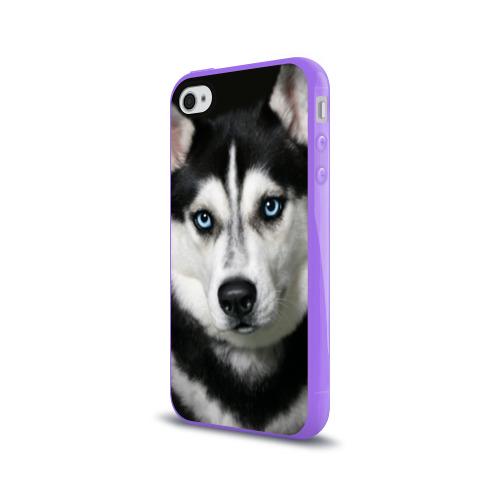 Чехол для Apple iPhone 4/4S силиконовый глянцевый  Фото 03, Хаски