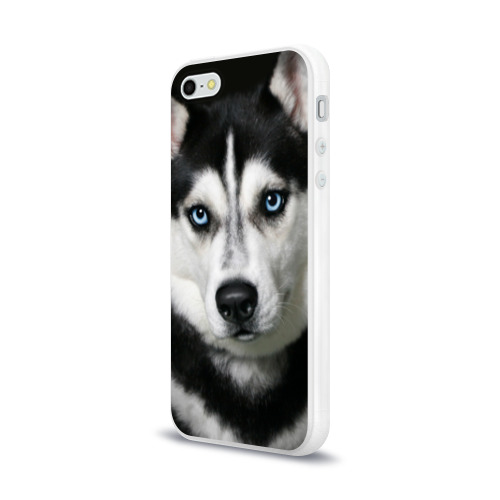 Чехол для Apple iPhone 5/5S силиконовый глянцевый  Фото 03, Хаски