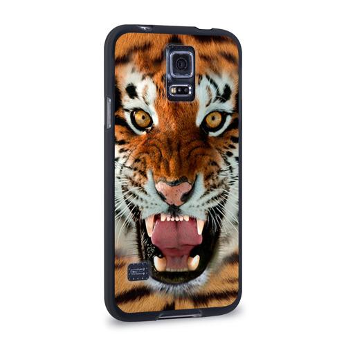 Чехол для Samsung Galaxy S5 силиконовый  Фото 02, Тигр