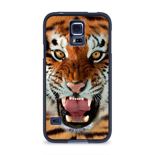 Чехол для Samsung Galaxy S5 силиконовый  Фото 01, Тигр