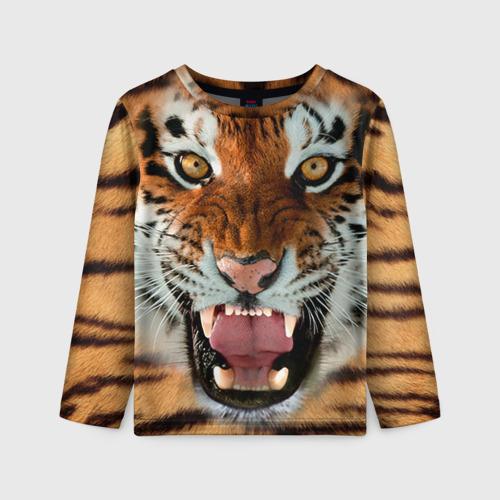 Детский лонгслив 3D Тигр